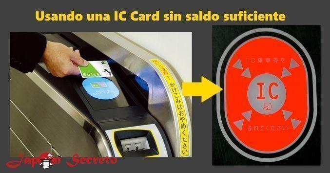 Usando la tarjeta Suica en el metro: saldo insuficiente