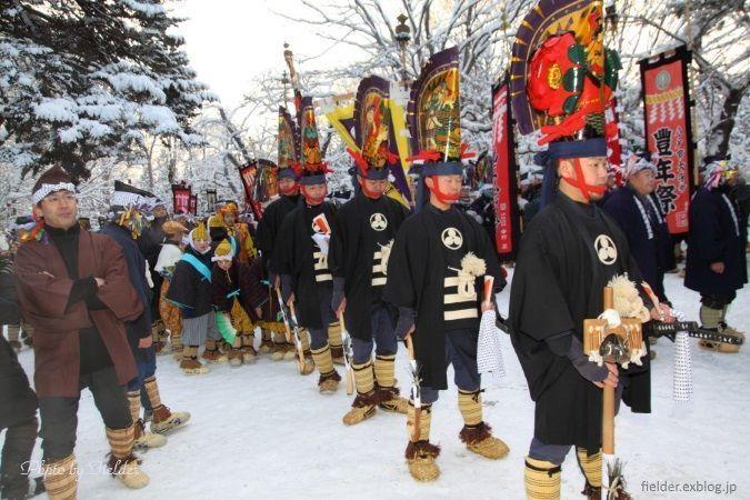 Festivales de Japón: bailarines Tayu en el Hachinohe Enburi