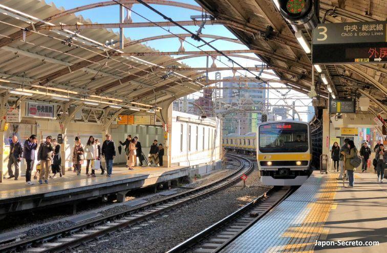 Tren urbano. Tokio. Guía JR Pass