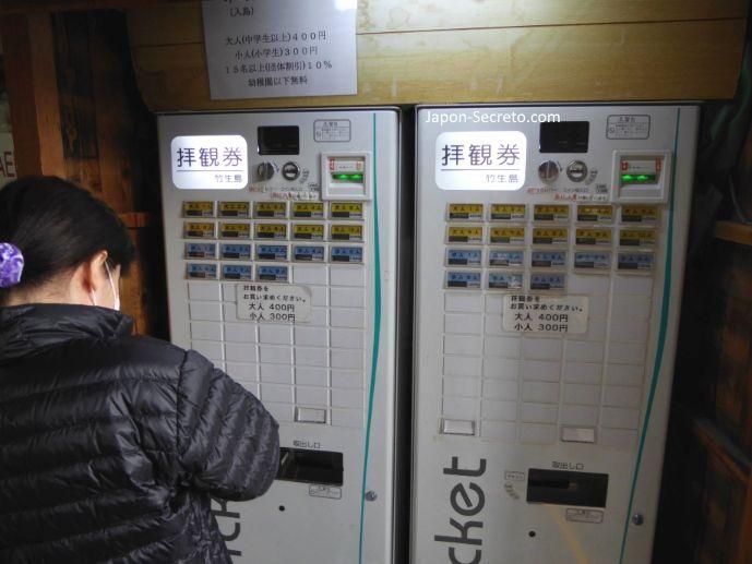 Excursiones desde Kioto: viaje a la isla de Chikubu (Chikubushima), en el lago Biwa. Pagando la tasa de acceso a la isla