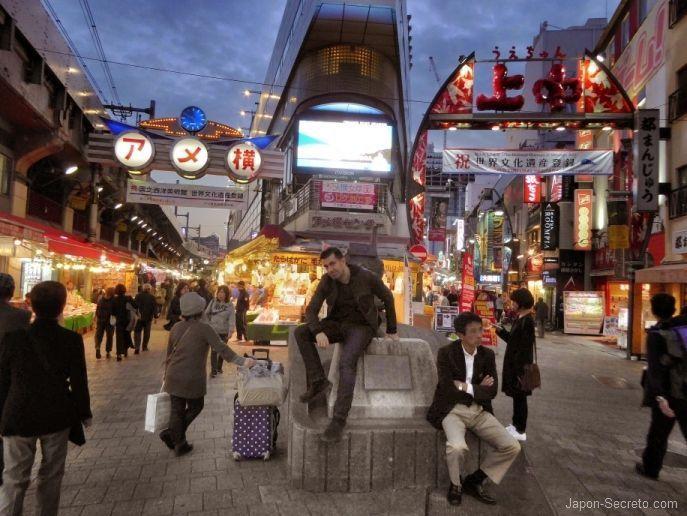 Callejones de Ameyoko. Barrio de Ueno (Tokio, Japón). Foto de noviembre de 2016