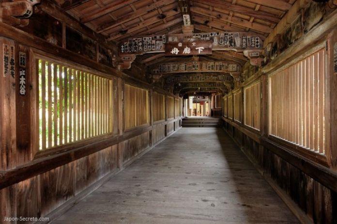 Isla Chikubushima: pasillo Funarōka (舟廊下)