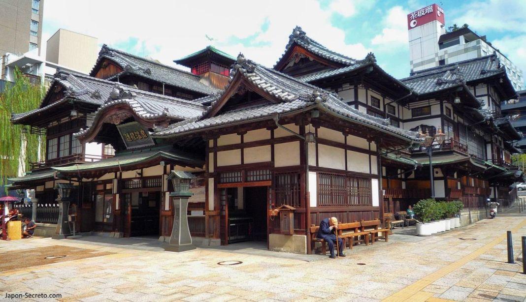 Viajar a Shikoku. Dogo Onsen (Matsuyama, Ehime). Casa de baños Dogo Onsen Honkan.