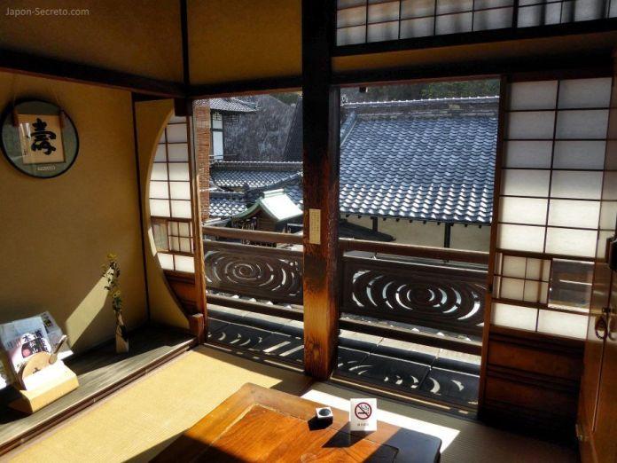 Viajar a Shikoku. Dogo Onsen (Matsuyama, Ehime). Habitación privada en la casa de baños Dogo Onsen Honkan.