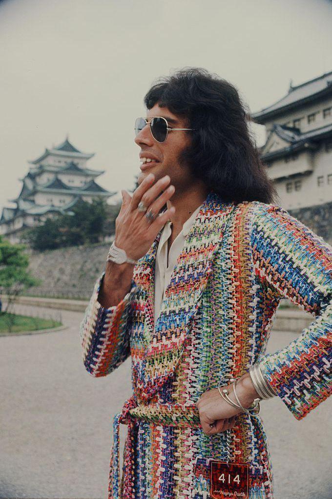 Freddie Mercury en Nagoya (Japón). 22 de abril de 1975