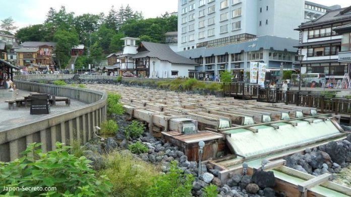 El Yubatake de Kusatsu Onsen, el pueblo balneario más famoso e importante de Japón