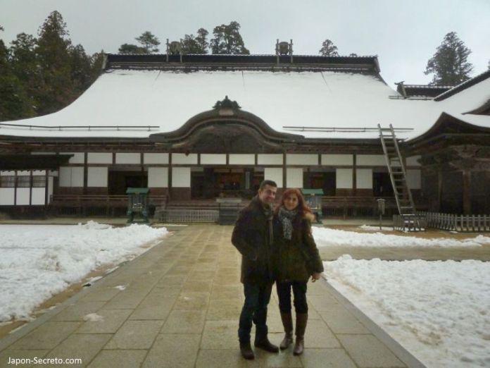 Viaje al Monte Koya o Koyasan (Wakayama): Kongobuji. Nieve en invierno