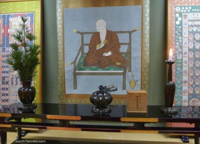 Viajar al Monte Koya o Koyasan (Wakayama): imagen de Kukai o Kobo Daishi