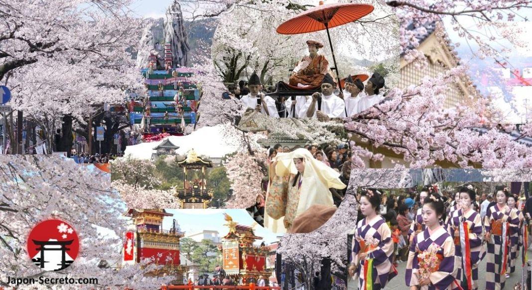 Festivales de abril en Japón. Cerezos en flor. Sakura. Hanami. Viajar.