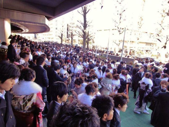 """Celebración del Día de la Mayoría de Edad (成人の日, """"Seijin No Hi"""")."""