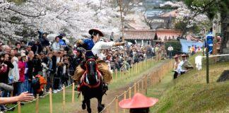 yabusame tiro con arco a caballo kamakura matsuri festival japón