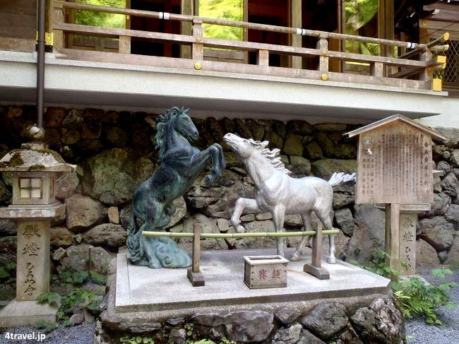 Lugar de origen de las tablillas Ema (santuario Kifune, Kioto)