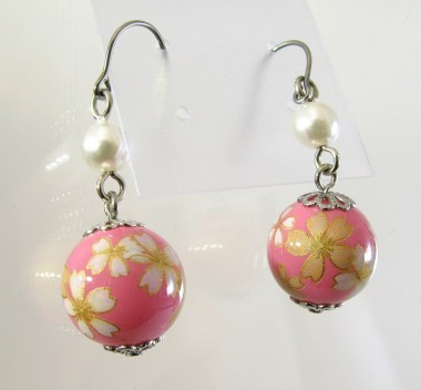 Boucles d'oreilles Wadama Sakura (Fleur de cerisier)