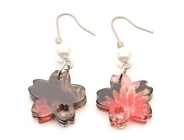 Boucles d'oreilles Petit sakura (Fleur de cerisier)