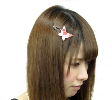 Pince à cheveux clic clac Papillon