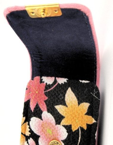 Trousse pour stylos Chirimen Fleur