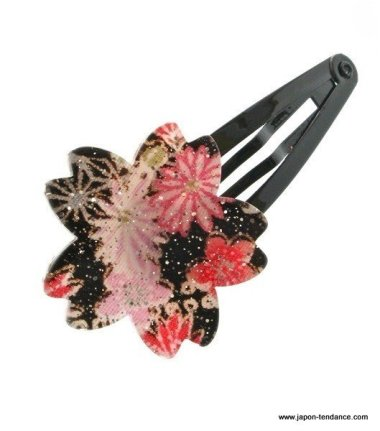 Pince à cheveux clic clac Sakura (Fleur de cerisier)
