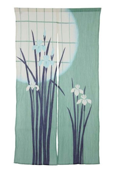 Noren rideau japonais crêpe Iris