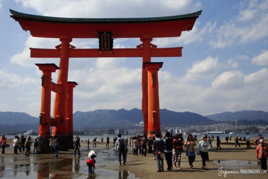 Brama torii w Miyajima, Itsukushima Jinja