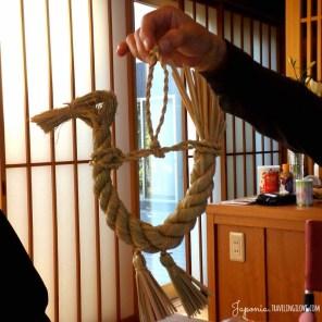 Shimekazari w kształcie kaczki...