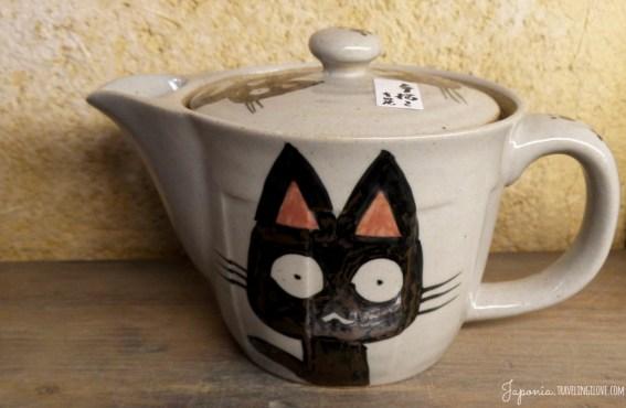 Ceramiczny czajniczek z kotem z Kitchen Town, którego nie kupiłam i bardzo żałuję :(