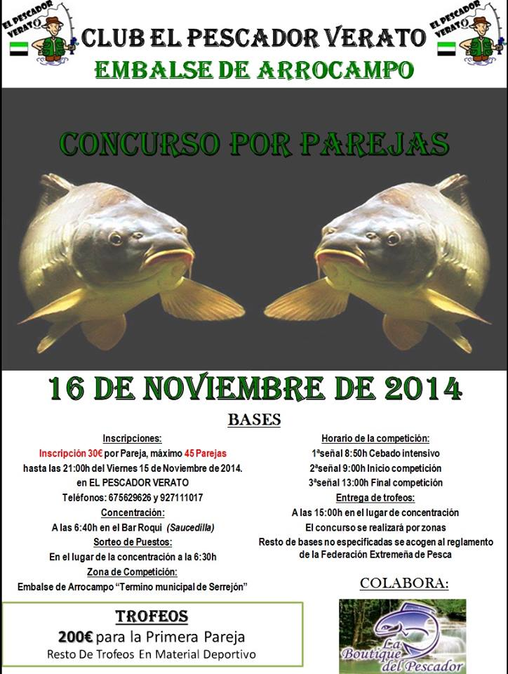Concursos por parejas - 16 de noviembre - Almaraz