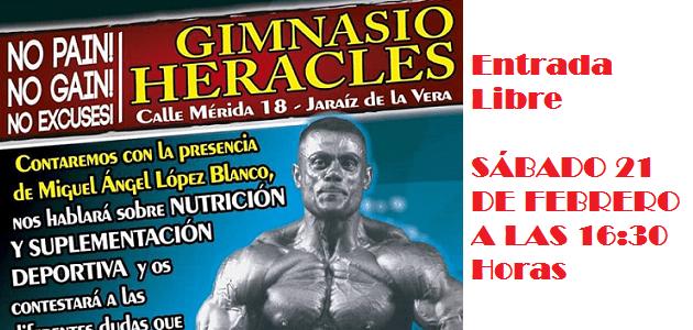 Este sábado charla con Miguel Ángel López Blanco en GIMNASIO HERACLES