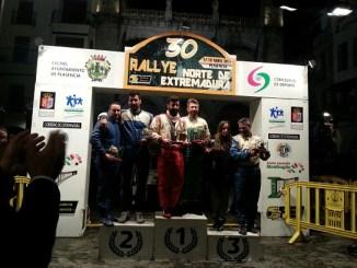 Podium del XXX Rallye Norte de Extremadura
