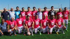 Entrega de trofeos a los trece equipos participantes en La Liga y a los finalistas de Copa