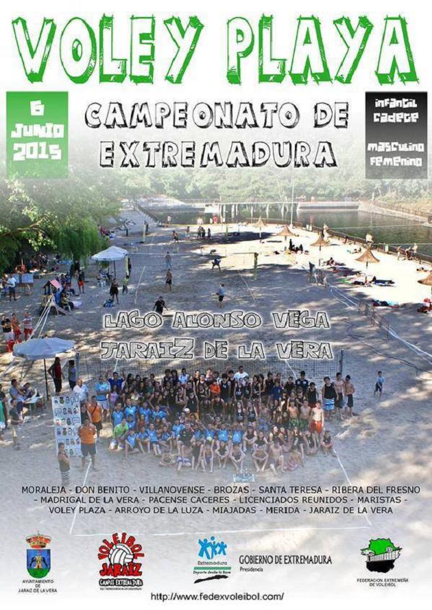 Voley Playa - Campeonato de Extremadura 2015