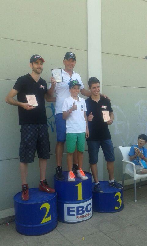 Caballero vencedor del V Slalom Villa de El Molar