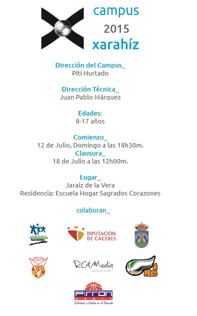 "Campus Xarahíz 2015 ""Mejora tu baloncesto"""