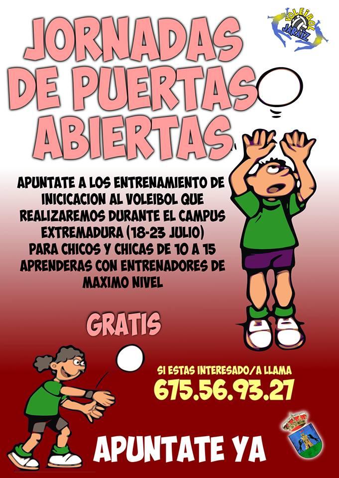 Jornadas de puertas abiertas de voleibol