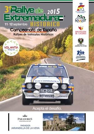 Cartel III Rallye Histórico de Extremaduralow