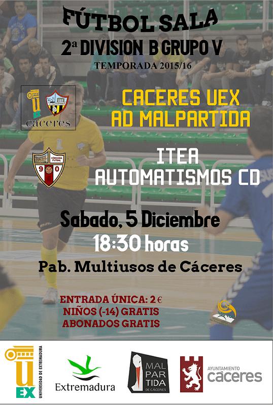 Previa J10. Cáceres UEX AD Malpartida vs Itea Automatismos FS