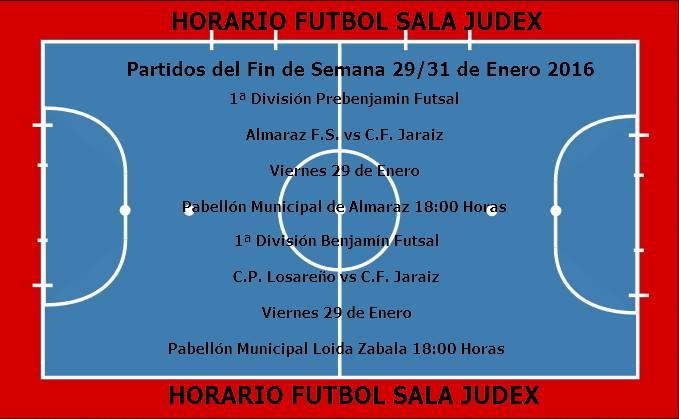 Horarios Fútbol Sala C.F. Jaraíz