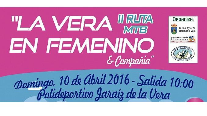 II Ruta MTB La Vera en Femenino y Compañía domingo 10 de abril 2016