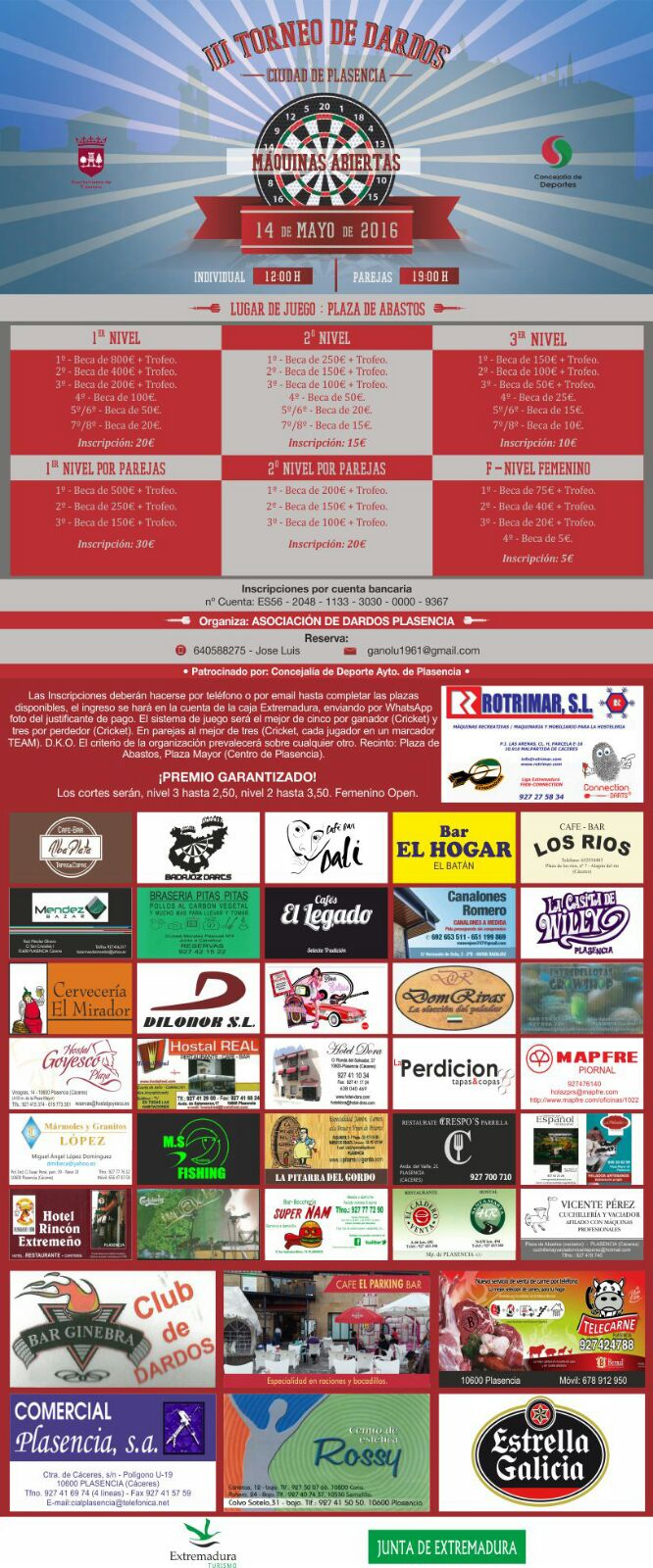 III Campeonato de dardos electrónicos Ciudad de Plasencia