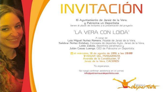 """Presentación del proyecto """"La Vera con Loida"""" el día 10 de agosto en Jaraíz"""