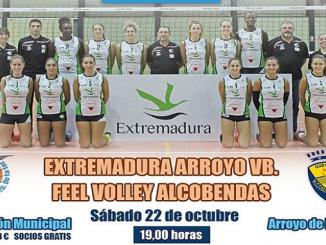El Extremadura Arroyo recibe al Feel Volley Alcobendas