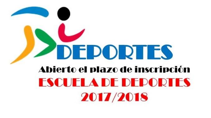 Abierto el plazo de inscripción de las Escuelas Deportivas 2017/2018