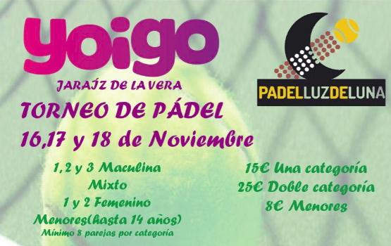 Torneo de Padel Yoigo & Padel Luz de Luna