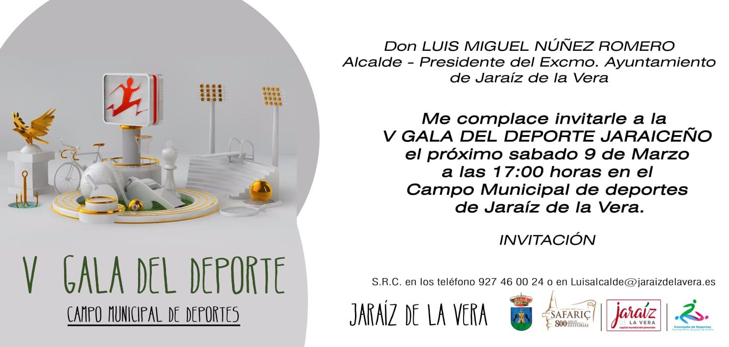 V Gala del deporte Jaraiceño esta tarde en el Campo Municipal de Deportes