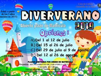 Abierto el plazo de matrícula e inscripción para el Diververano 2019