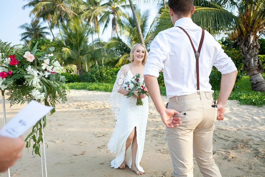 Beach Wedding Photographs - Coconut Island Resort Phuket 40