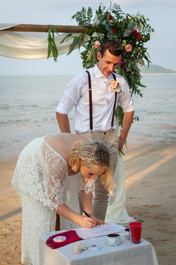 Beach Wedding Photographs - Coconut Island Resort Phuket 56