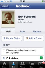 Bra tryck för Facebook via mobilen