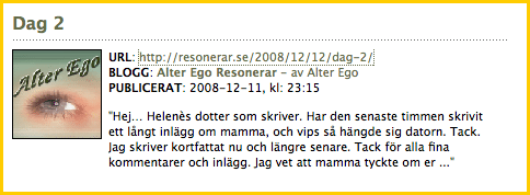 Bloggportalen.se - Alter Ego Resonerar