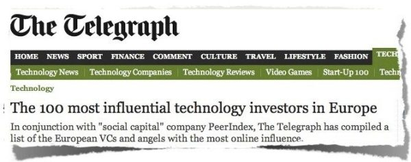 The 100 most influential technology investors in Europe