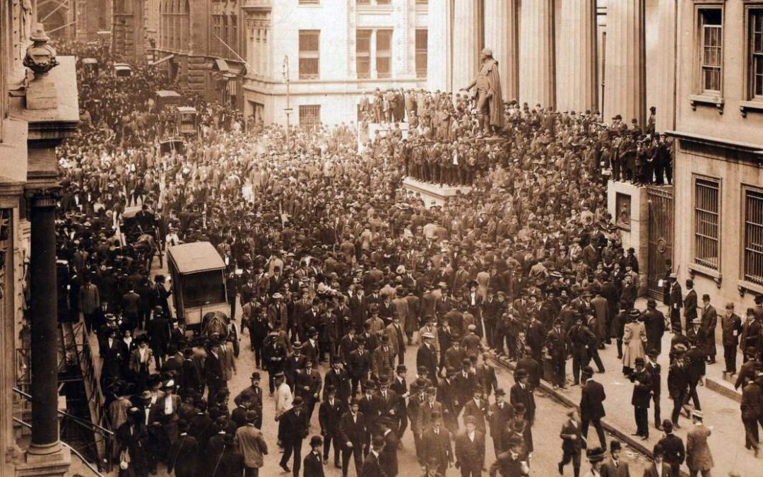 Börsfall, bitcoins och mjuka värden som sedelpress